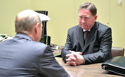 Alexander Mixailov at the meeting with President of Russia