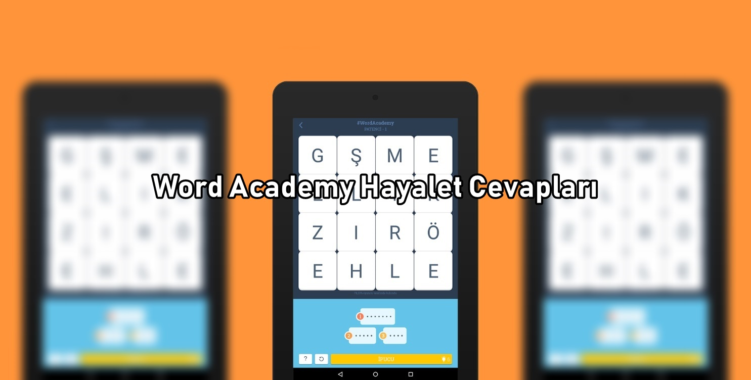 Word Academy Hayalet Cevaplari