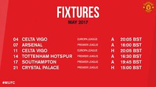 Jadwal Pertandingan Manchester United Mei 2017