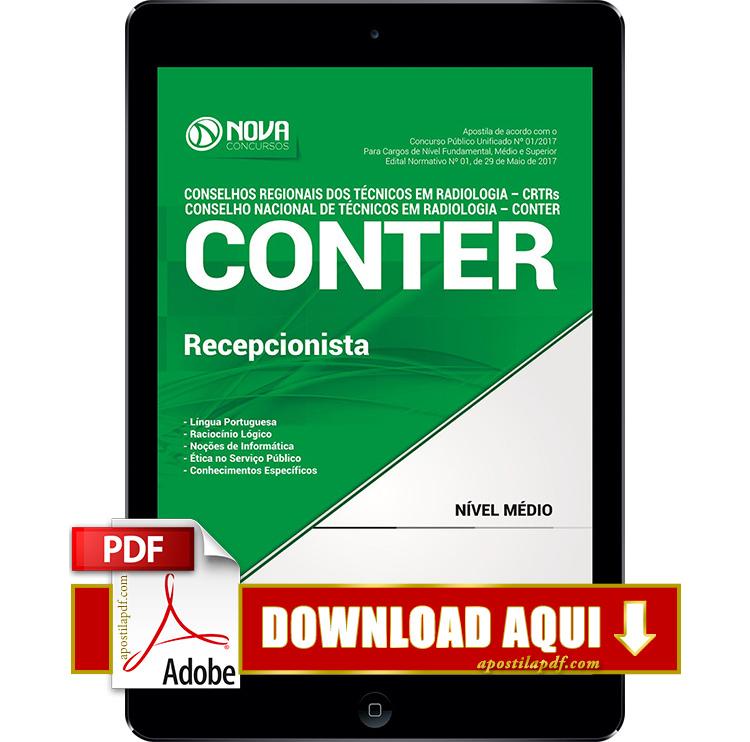 Apostila CONTER 2017 PDF Download Recepcionista