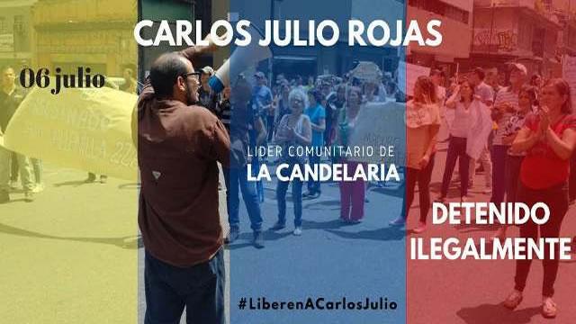 Vecinos de La Candelaria rechazan la detención arbitraria del Dirigente Comunitario y periodista Carlos Julio Rojas