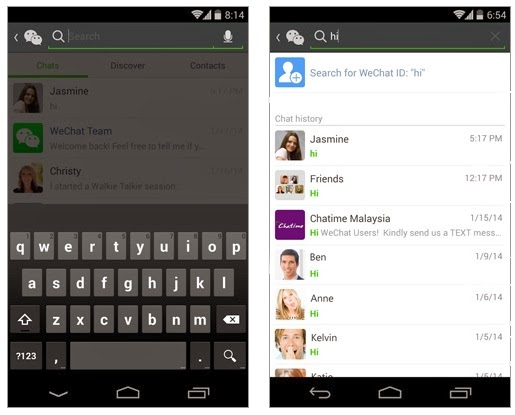 Universal Search WeChat 5.2 Update