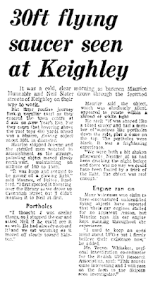Flying Saucer Seen at Keighley - The Telegraph & Argus 2-1-1980