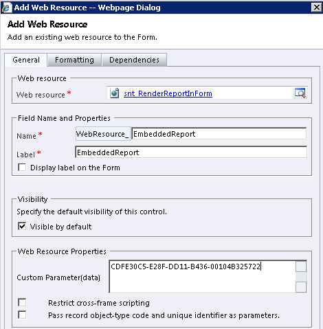 Practical Dynamics CRM: Embedding Reports in a CRM Form