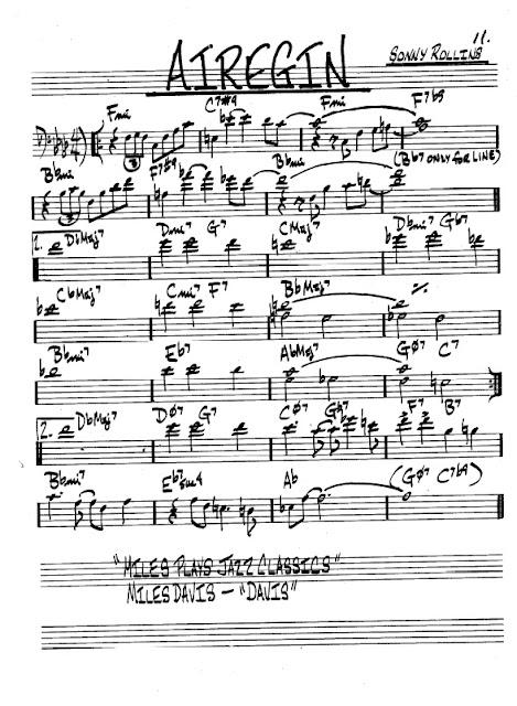 Partitura Violonchelo Sonny Rollins