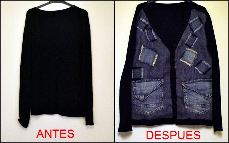 DIY refashion chaqueta vaquera