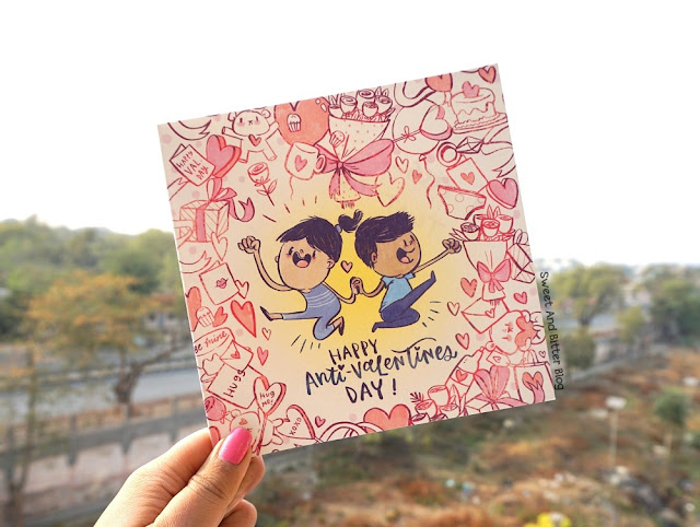 Happy Anti Valentines Day Card by Alicia Souza