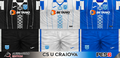 PES 6 Kits CS U Craiova Season 2017/2018 by Alessandro Edition