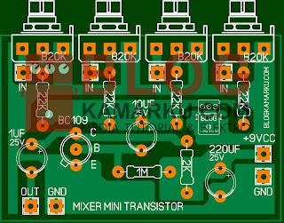 Cara Membuat Mini Mixer Hanya Dengan 1 Transistor