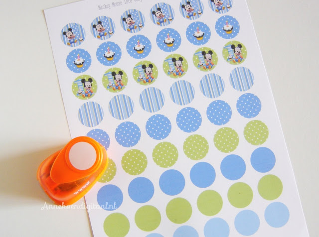 DIY confetti, free printable Mickey Mouse, Mickey Mouse confetti, confetti zelf maken