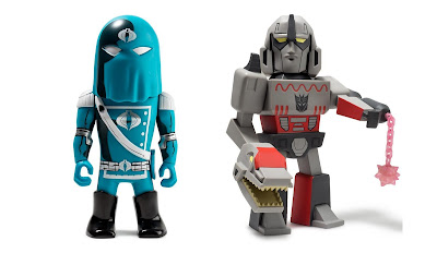 Transformers vs G.I. Joe Megatron & Cobra Commander Medium Art Figures by Tom Scioli x Kidrobot