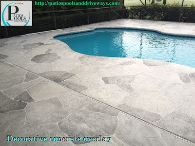 #decorativeconcrete #decorativeoverlay #pooldeck #concrete