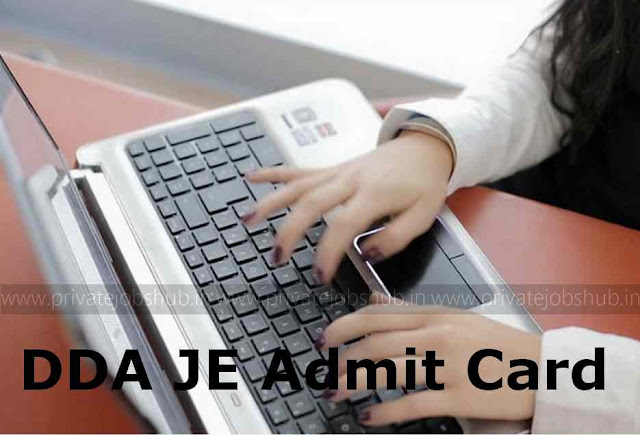 DDA JE Admit Card