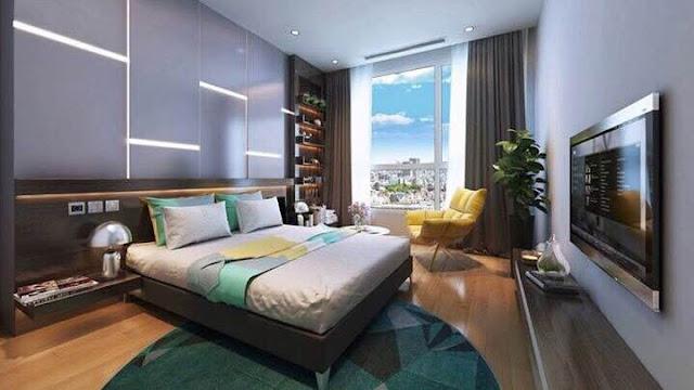 Phòng ngủ trong căn hộ Vinhomes Cầu Diễn
