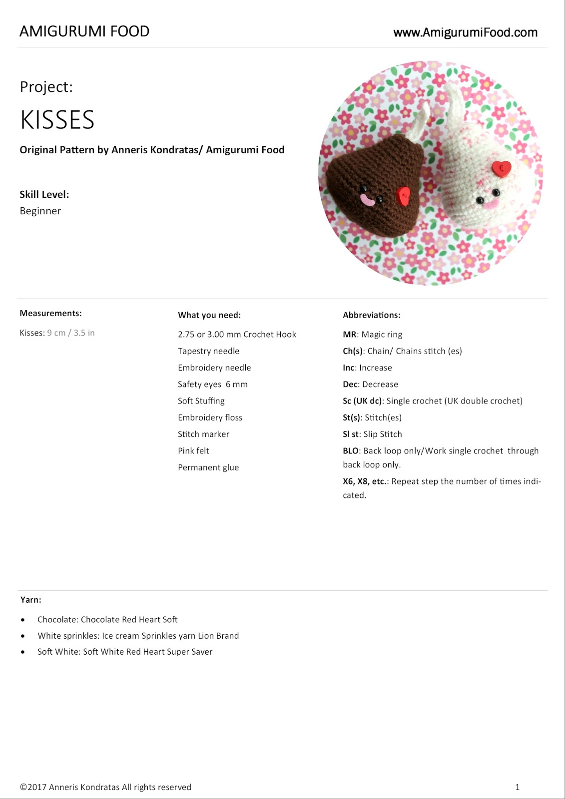 Amigurumi food new free pattern valentines day kisses amigurumi new free pattern valentines day kisses amigurumi food crochet food bankloansurffo Choice Image