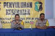 Biddokkes Polda Sulsel Penyuluhan Kesehatan di Polres Barru