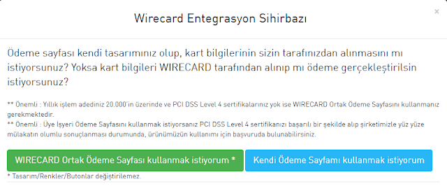 wirecard site kurulumu