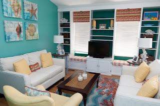 sala color turquesa