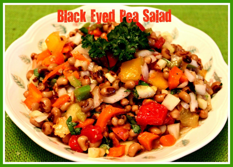 sweet tea and cornbread black eyed pea salad