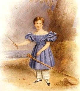 Menino de vestido na Era Vitoriana