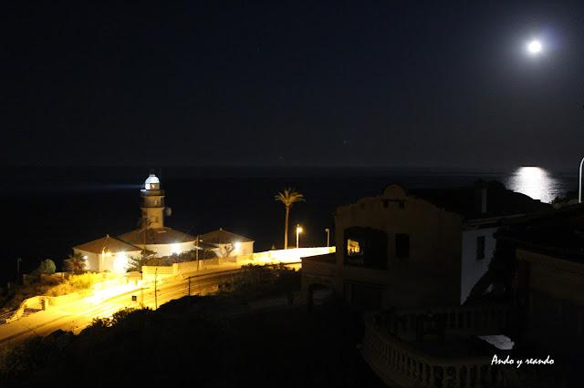 Luna llena y faro de Cullera