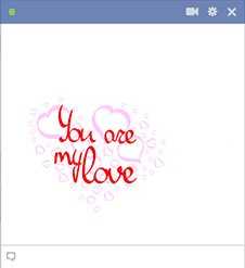 You Are My Love Sticker