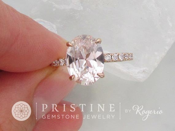 Rose Gold Engagement Ring Pink Shire Peach