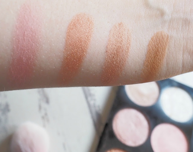 Make Up Revolution Golden Sugar Palette Swatches
