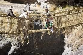 Inca Rope Bridge or Keshwa Chaca Bridge - Peru