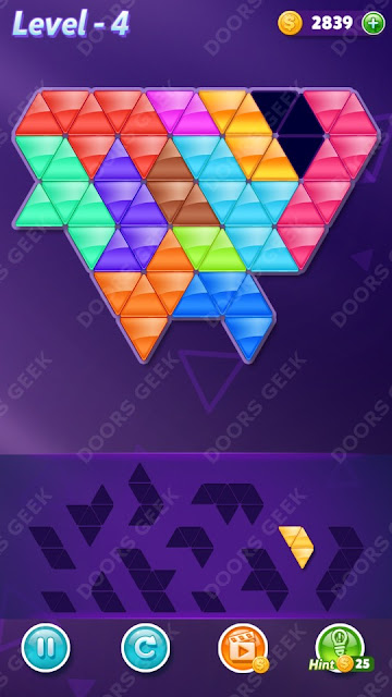 Block! Triangle Puzzle 12 Mania Level 4 Solution, Cheats, Walkthrough for Android, iPhone, iPad and iPod