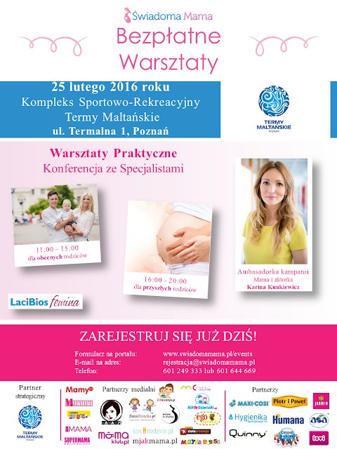 Zarejestruj się na bezpłatne warsztaty Świadoma Mama w Poznaniu