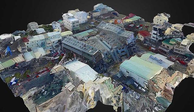 Zona do terremoto no Taiwan transformado em modelo de realidade virtual