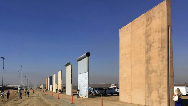 One Year of Trump: Border Wall Prototypes Sit in Desert As Border-Crossings Surge to Obama Levels