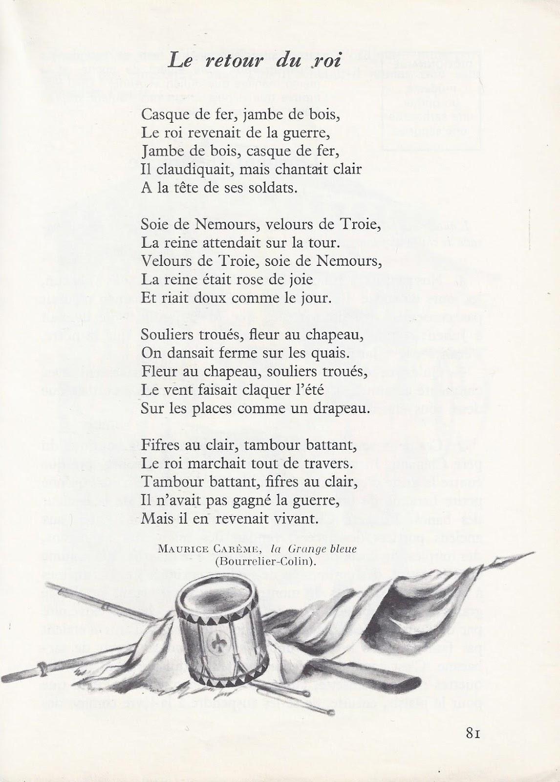 Poesie L Ecole De Maurice Careme : poesie, ecole, maurice, careme, école, Références:, Retour, (Maurice, Carême)