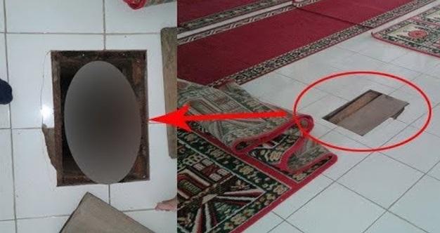 Jemaah Jumpa Lubang Pelik Bawah Sejadah Di Lantai Masjid. Hairan Mereka Menyiasat Lubang Tersebut Dan Di Dalamnya Buat Mereka Terkejut Habis!! MEREMANG BULU ROMA!!