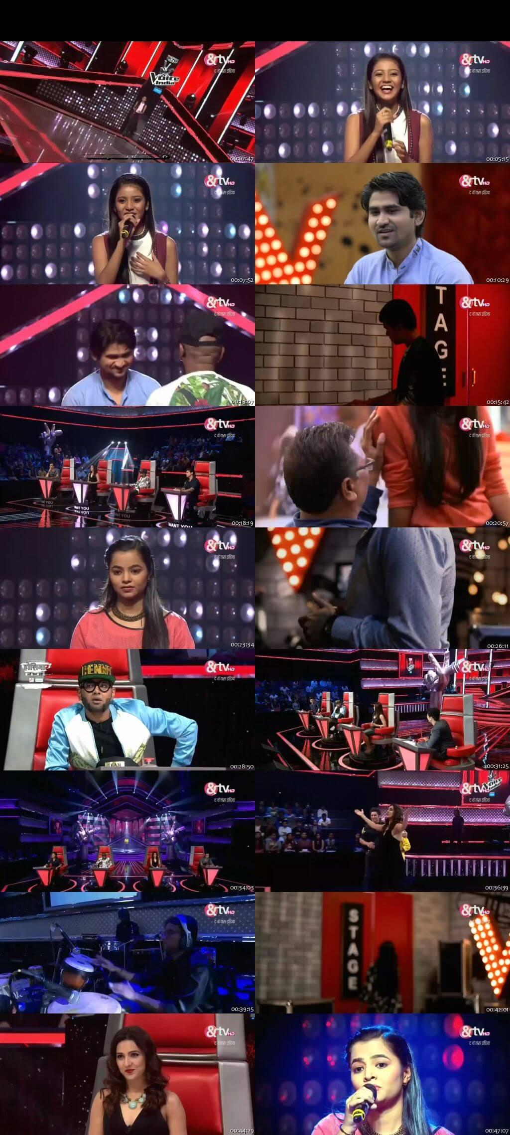 Screenshots Of Hindi Show The Voice India Season 2 7th January 2016 Episode 09 300MB 480P HD
