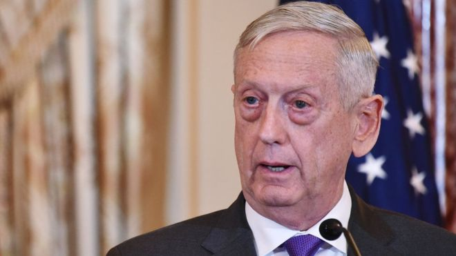 US Defence Secretary Jim Mattis resigns