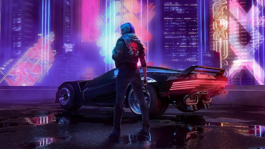 Cyberpunk 2077 v samurai jacket car 4k 100 wallpaper - Cyberpunk 2077 wallpaper 4k ...