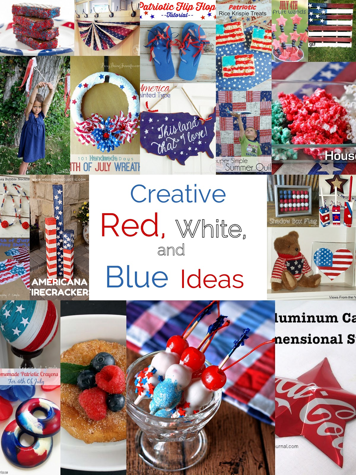Pieces by polly creative red white and blue ideas and - Red white and blue party ideas ...