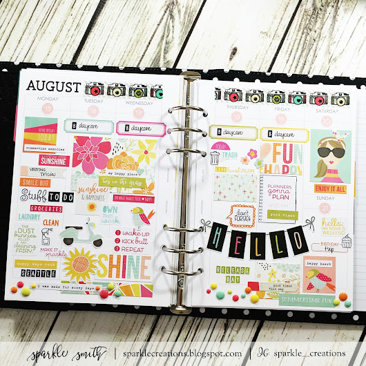 Planner Stamping: August 15 - 20, 2016 - TE Clearly Planned