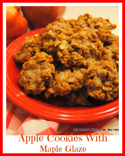 Apple Cookies With Maple Glaze at Miz Helen's Country Cottage