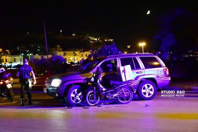 Τροχαίο ατύχημα στο Ναύπλιο με τραυματία οδηγό delivery (βίντεο)