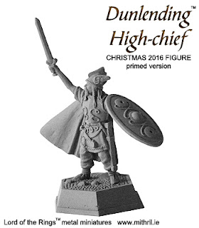 Christmas 2016 Mithril figure | Dunlending High-chief primed version