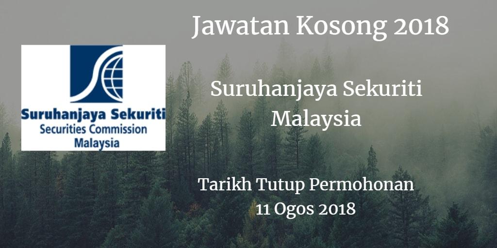 Jawatan Kosong Suruhanjaya Sekuriti Malaysia 11 Ogos 2018
