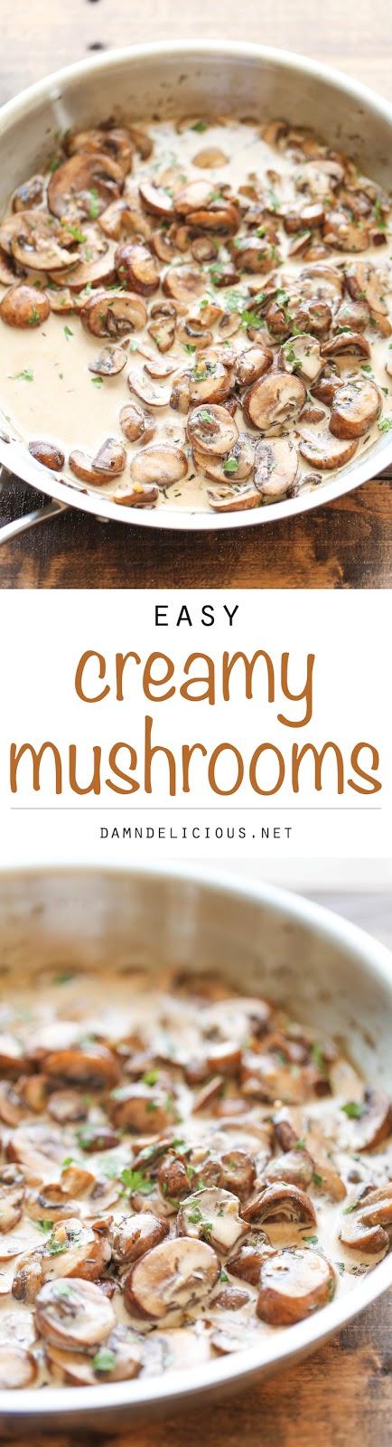 THE BEST CREAMY MUSHROOMS RECIPE