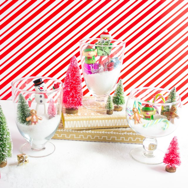 Such a fun craft to do with kids - make these sweet Christmas terrariums!