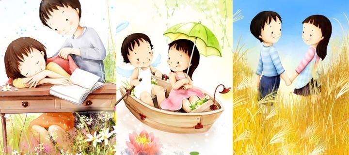 Cute Wallpaper Cute Cartoon Love Wallpaper For Mobile Hd