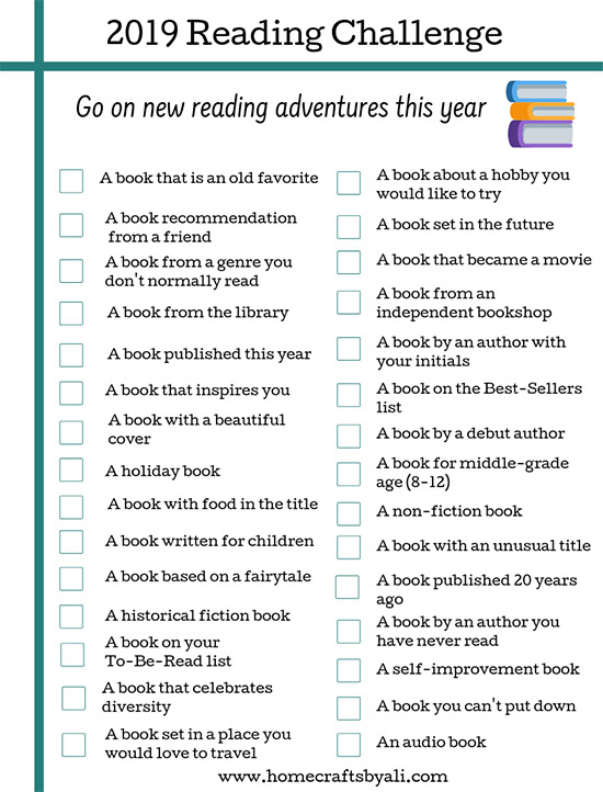 reading challenge download book prompt list