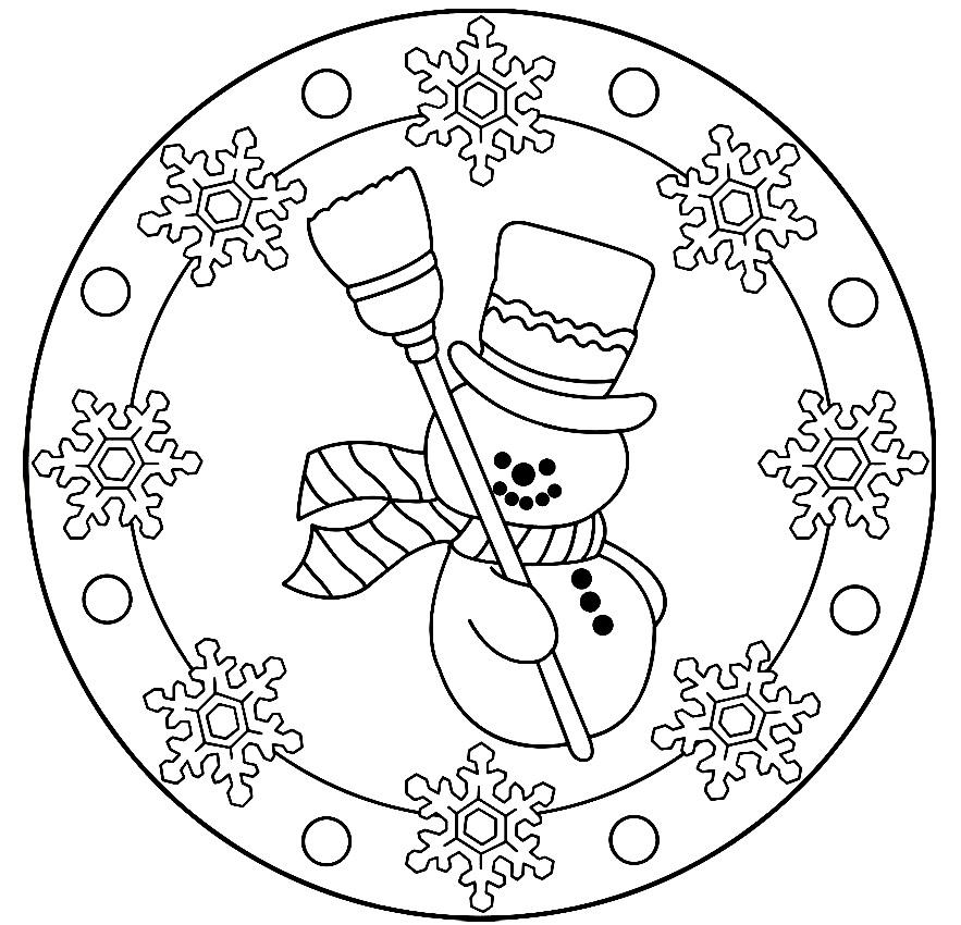 cosillas de infantil mandalas de invierno
