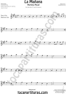 Alto Sax and Baritone Saxophone Sheet Music for Morning Mood Classical Music Scores